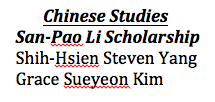 Chin.Studies. SanPaoLi
