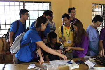 Working together: Cambodian and American Students